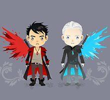 Dante and Virgil by melissadejesus