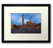 Tramonto, Il Campo, Siena  Framed Print