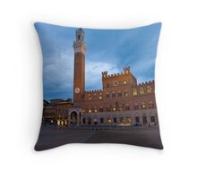 Tramonto, Il Campo, Siena  Throw Pillow
