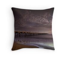 Hervey Bay Pier Throw Pillow
