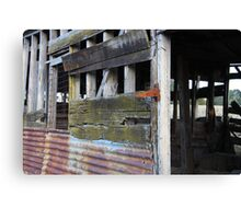 Rusty and rough rustic relic Canvas Print