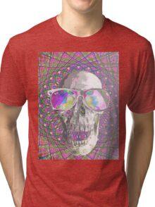 Psychedelic Skull Tri-blend T-Shirt