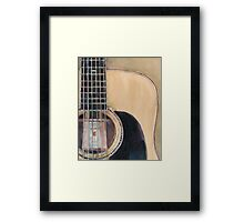 Martin Acoustic Guitar SSC-D35-14 - from Canada - Watercolor Art Print  Framed Print