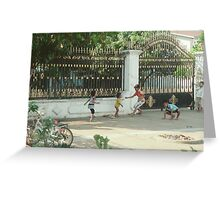 Cambodian Kids Playing Greeting Card
