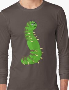 Cartoon Caterpillar Long Sleeve T-Shirt