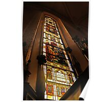 Big Colors Church Window Poster