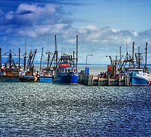 Scallop Boats Digby Nova Scotia by HighHeadArtwork