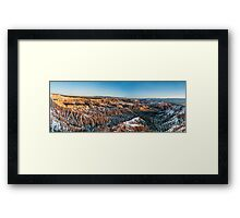 Bryce Point Panorama – Bryce Canyon National Park, Utah Framed Print