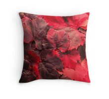 Red Grape Vines Throw Pillow