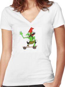Dread goblin skater Women's Fitted V-Neck T-Shirt