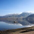 Ben Nevis from Camusnagaul. by John Cameron