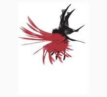 Black And Red Swirled Spider Kids Clothes