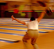 Bowler Throwing a Bowling Ball  by Buckwhite