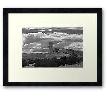 Hoodoo Island, near Chimayo, New Mexico Framed Print