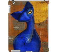 Moonlight Serenade: Cat, Mid Century Modern, by Alma Lee iPad Case/Skin