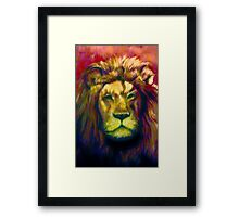 Colorful Lion Painting Framed Print
