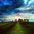 Stonehenge Landscape by phatpuppy
