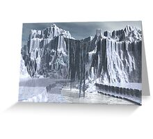 Shadow Cascades at 5pm Greeting Card
