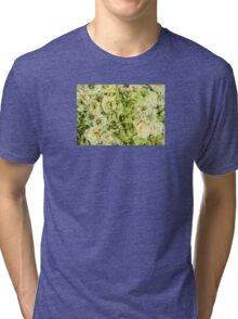 Green Flowers Tri-blend T-Shirt