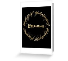 The Ring Script Greeting Card