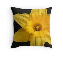 Yellow Star Throw Pillow