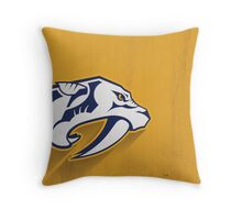 Nashville Predators Minimalist Print Throw Pillow