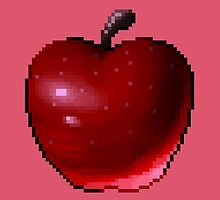 Pixel Apple (Deep Red) by skywaker