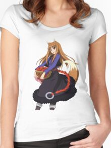Holo - Spice and Wolf Women's Fitted Scoop T-Shirt