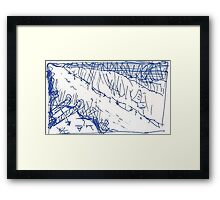 SAYING PRAYERS FIRST(BLUE INK PEN))(C2011) Framed Print