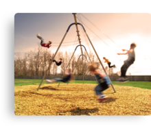 On the Swings Canvas Print
