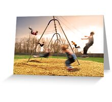 On the Swings Greeting Card
