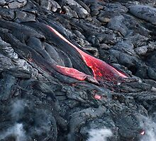 Lava Flow at Kalapana 11 by Alex Preiss