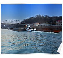 Kanawha River Traffic Poster
