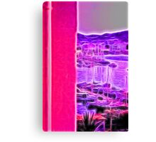 neon pink marina Canvas Print