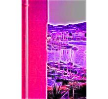 neon pink marina Photographic Print