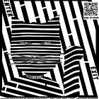 The Maneki Neko Cat Maze in optical art style  by Elenapinker