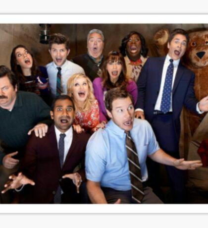 Parks and recreation cast Sticker