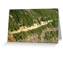 Path along the cliffs Greeting Card