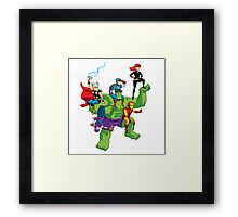 the avengers cartoon Framed Print