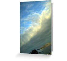 sky waving Greeting Card