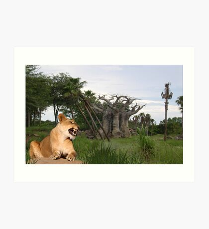 1189-Baobab Guardian Art Print