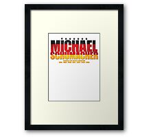 Michael Schumacher World Championships Flag Framed Print