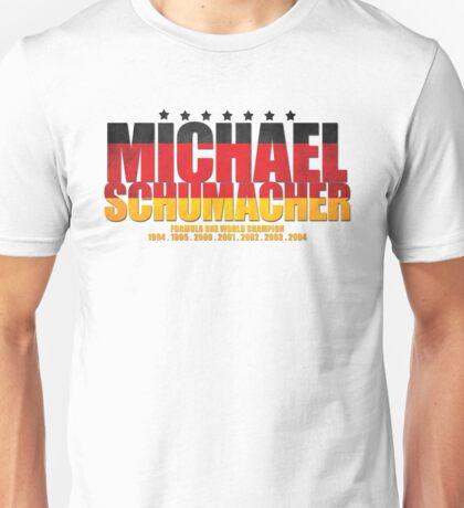 Michael Schumacher World Championships Flag Unisex T-Shirt