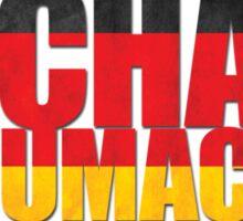 Michael Schumacher World Championships Flag Sticker