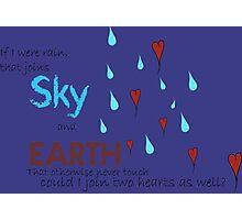Join Two Hearts (Rain) Photographic Print