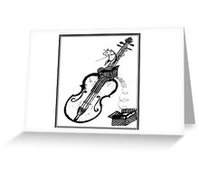 Mouse Playing the Stradivarius Greeting Card