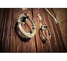 Church Door Knockers Photographic Print