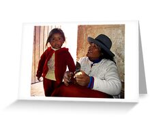love in Peruvian orphanage Greeting Card