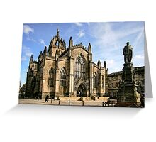 St Giles' Cathedral and Parliament Square Greeting Card