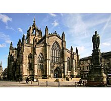 St Giles' Cathedral and Parliament Square Photographic Print